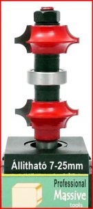Stábmaró állítható 2 oldalas / Adjustable Roundover bit